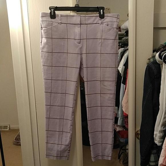 New York /& Company Cropped Pants Capri/'s NWT Women/'s 6 Chocolate Brown Stretch